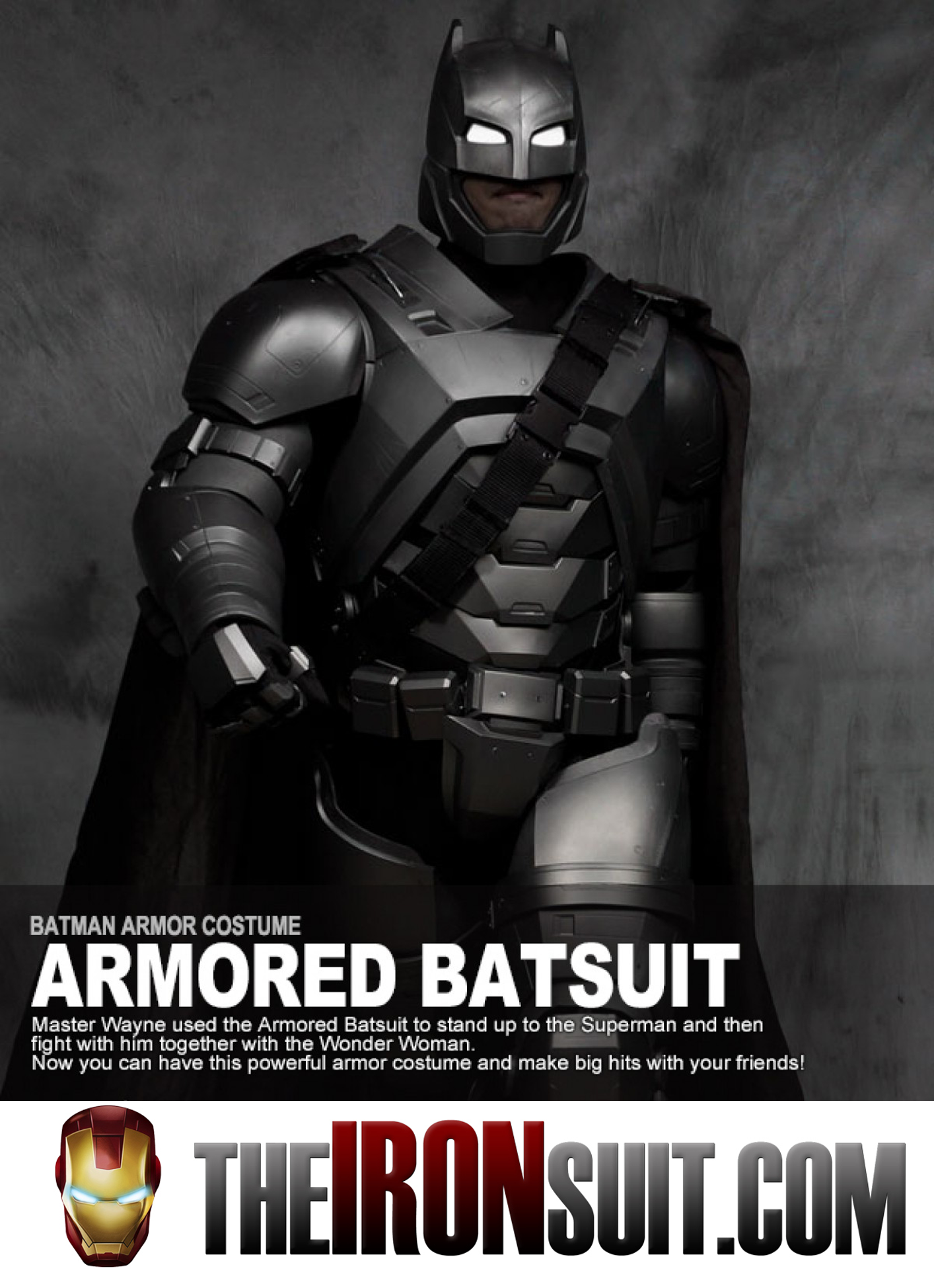 Wearable Armored Batman Costume Suit