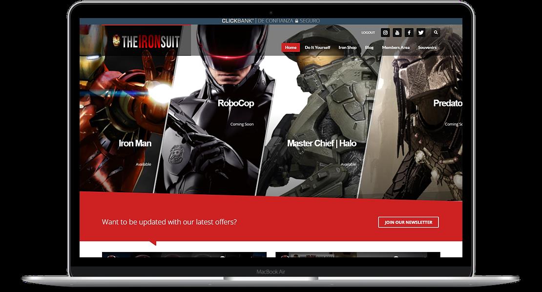 The Ironsuit website